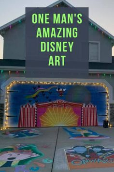 You won't believe this Amazing Disney Art on one man's sidewalk and HOUSE! Disney Magic, Disney Art, Uplifting Messages, Aristocats, Sidewalk Chalk, Day Work, Happenings, Disney Cruise, More Pictures