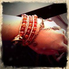 Breaded wrap bracelet and dangle charm bracelet by MAYOULEE   Accessories    Like on   https://www.facebook.com/lookitsmayoulee