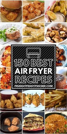 This is the ULTIMATE collection of the best air fryer recipes. There are over a hundred air fryer recipes for breakfast, lunch, dinner, appetizers, desserts 150 Best Air Fryer Recipes Air Fryer Recipes Chips, Air Fryer Recipes Appetizers, Air Fryer Recipes Breakfast, Air Frier Recipes, Air Fryer Dinner Recipes, Air Fryer Recipes Easy, Recipes Dinner, Breakfast Dishes, Weight Watchers Desserts