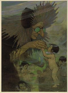 """The Water Babies"" by Charles Kingsley, illustrated by Jessie Willcox Smith [1916] (No. 9)"