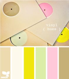 love these pastel colors with a bright yellow accent