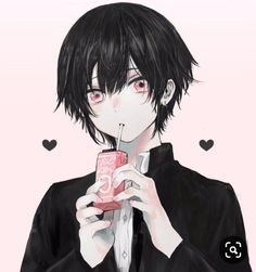 Anime black haired boy with red eyes ,, Dark Anime, Anime Oc, Kawaii Anime, Manga Anime, Cool Anime Guys, Handsome Anime Guys, Hot Anime Boy, Fan Art Anime, Anime Artwork