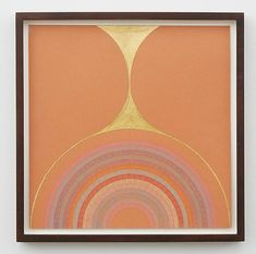 Claudia Wieser Untitled , 2013 Gold leaf, color pencil on paper 8 1/4 x 8 1/4 inches