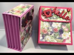 Mothers Day Card/Gift Cascade - YouTube