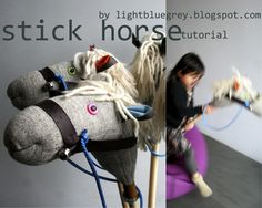 sock-hobby-horse: sock, broom handle, thick yarn or mop head, rope, belt or leather, felt, polyfill, key rings,buttons