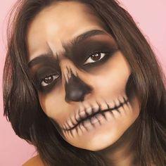 How To: Simple Halloween Skull Makeup Tutorial Makeup & Beauty # ga . - How To: Simple Halloween Skull Makeup Tutorial Makeup & Beauty # gardenia - Zombie Makeup Tutorial, Maquillaje Halloween Tutorial, Easy Makeup Tutorial, Skeleton Makeup Tutorial, Makeup Tutorials, Diy Tutorial, Makeup Ideas, Makeup Tips, Visage Halloween