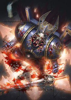 "Artwork done for the Warhammer 40K "" The Threat beyond War"" expansion card set…"