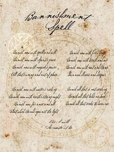 Bannishment Spell page