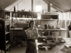 "Yakima Belle: July 1936. ""Interior of migratory fruit worker's tent. Yakima, Washington."" Photo by Arthur Rothstein"