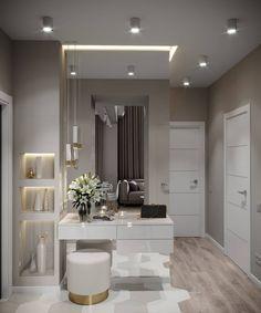 New dream closet design lighting Ideas Home Interior Design, Modern Interior, Home Bedroom, Bedroom Decor, Bedroom Apartment, Apartment Ideas, Dressing Table Design, Flur Design, Hallway Designs