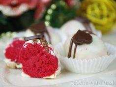 Guľky Red Velvet Kefir, Red Velvet, Raspberry, Fruit, Cake, Recipes, Food, Kuchen, Essen