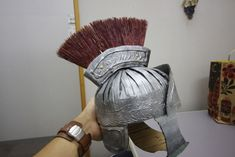 Roman-esque Soldier Uniform - From Cardboard! : 11 Steps (with Pictures) - Instructables Roman Soldier Helmet, Roman Soldier Costume, Roman Helmet, Nativity Costumes, Diy Costumes, Roman Costumes, Centurion Romain, Centurion Helmet, Roman Shield