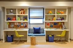 Classic Contemporary Kids Study Space - transitional - Kids - Miami - Frances Herrera Interior Design