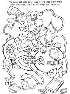 Free Printable Dr Seuss Coloring Pages For Kids Color This Online Pictures And Sheets A Book Of