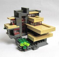 Lego Mocs Micro ~ Hillside Villa (front view)   by JETfri