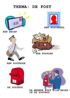 Het kleuterwoordenboek: thema: de post.