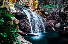 Waterfall in the Milli gorge Rethymno