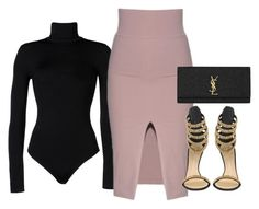 'DATE NIGHT' by Melissa's Mirror by melissas-mirror on Polyvore featuring polyvore, fashion, style, Wolford, Giuseppe Zanotti, Yves Saint Laurent and clothing