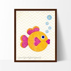This sweet, playful fish will add a touch of whimsy to any nursery, playroom or kid's room.