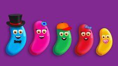 The Finger Family Jelly Bean Family Nursery Rhyme | Jelly Bean Finger Family Songs