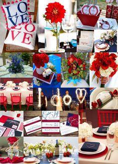 Red, White & Blue Wedding | staticchic.org