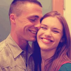 This is just too adorable. Holland Roden and Colton Haynes