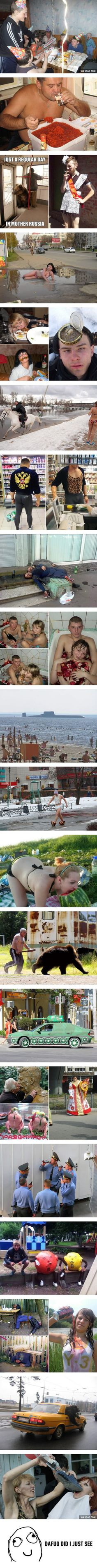 "Just a ""Normal"" day in Russia..."