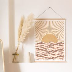 Boho Rising Sun Art Print Printable Wall Art Digital Print - Informations About Boho Rising Sun Art Print Printable Wall Art Digital Print Pin You can easily us - Art Soleil, Neutral Walls, Neutral Colors, Neutral Art, Sun Art, Décor Boho, Printable Wall Art, Printable Designs, Printables