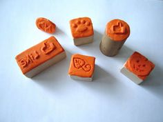 How to make stamps with Sugru - there's a link to make a Sugru substitute!