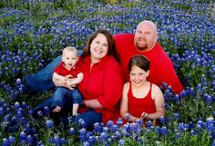 Bluebonnet pictures in red