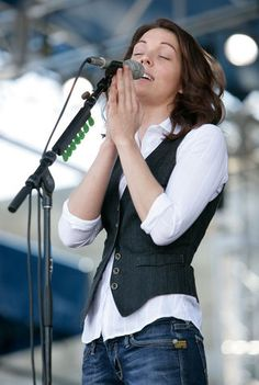 brandi carlile. i strongly suggest you take interest in her if you haven't already :] she's extremely talented