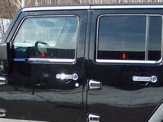 black jeep wrangler chrome handles - Google Search