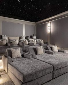 Home Theater Room Design, Movie Theater Rooms, Home Cinema Room, Home Theater Decor, Home Theater Seating, Home Decor, Home Theater Furniture, Media Furniture, Rustic Furniture