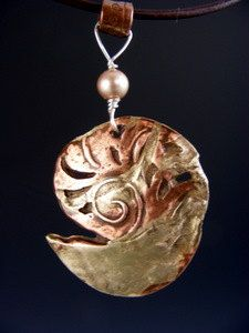 Copper and bronze nautilus. For sale - just click the pic!