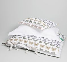 Garbo and Friends Fly Tiny Butterfly Girls Bedding Set | Nubie - Modern Baby Boutique