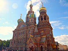 Szentpétervár: Vérző Megváltó templom - St. Petersburg: Church of Savior...