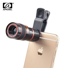 APEXEL Universal Zoom Telescope Telephoto Camera Lens Mobile Phone Lente For iPhone 6 7 Plus Samsung Galaxy Note Mobile Camera Lens, Phone Lens, Beats Headphones, Over Ear Headphones, Galaxy Note, Iphone 6, Cheap Mobile, Types Of Cameras, Iphone Accessories