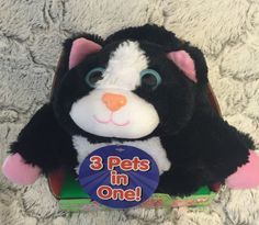 Pop Out Pets Kittens Cats Reversible Plush Toy 3 Stuffed Animals Pets in One #PopOutPets