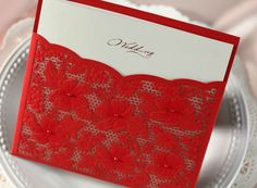 Daisy Wedding Invitation with Faux Pearl in Red (Set of 50) Printable and Customizable Wholesale Free Shipping New on AliExpress.com. 10% off $58.47