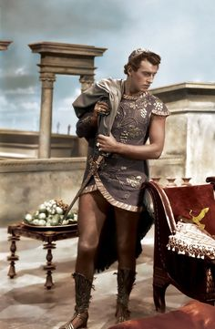 Stewart Granger    Apollodorus in Caesar and Cleopatra.  Small but fun part and what legs....