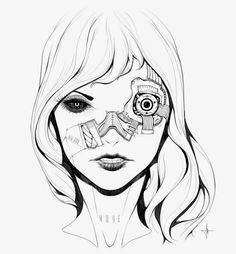 Mulheres biônicas, robóticas e ciborgues nas ilustrações de ficção científica de Adrian Dadich