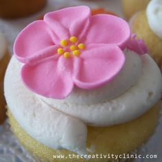 The Creativity Clinic: Royal Icing Flowers and Cupcakes
