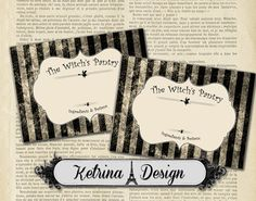 Blank Witch's Pantry Halloween Labels instant by KetrinaDesign