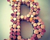 Wine Cork Letter Wreath for your Home or Wedding