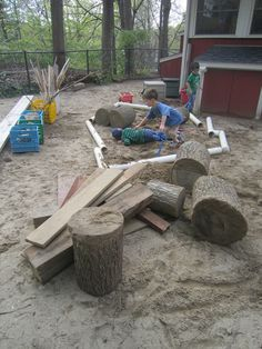 loose parts on the playground