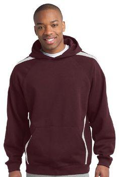 Sport-Tek Mens Big And Tall Hooded Sweatshirt_Maroon/White_XL Tall