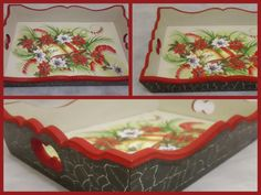 Christmas Serving Wooden Tray Christmas by CLVLArtsBrazil on Etsy, $41.00
