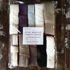 Useful linen tape remnants for knitting, crafting, gift wrap.  Fog linen Fabric Tape Set: 100g $9.00