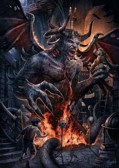 World Of Fantasy Art - Dusan Markovic art Dark Fantasy Art, Fantasy Kunst, Fantasy Artwork, Dark Art, Arte Horror, Horror Art, Digital Art Illustration, Satanic Art, Arte Obscura