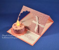 Birthday Cake tealight how to (diy birthday cake card) Tea Light Candles, Tea Lights, Exploding Gift Box, Bougie Led, Birthday Cake Card, Bee Cards, Fancy Fold Cards, Folded Cards, Light Crafts